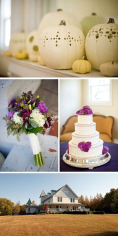 {Real Wedding} Heather & Kenny: Whimsical White Pumpkin Fall Wedding - Oh Lovely Day