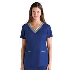Athletic Collection by Grey's Anatomy Women'sV-Neck Scrub Top #nursestyle #hospitalstyle #scrubs #greysanatomy