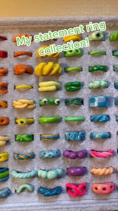 Fimo Ring, Polymer Clay Ring, Polymer Clay Crafts, Fimo Clay, Funky Jewelry, Jewelry Crafts, Diy Clay Rings, Clay Art Projects, Cute Clay