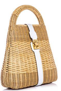 Mark Cross Man Ray Wicker Basket Bag