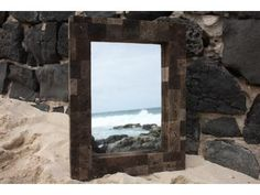"Lava Rock Rectangular Mirror 24"" x 30"" - Coastal Living - Lava Rock Rectangular Mirror: here is a beautiful hand made lava rock mirror rectangular shape, large. This mirror will add a nice coastal accent to your bathroom, living room or any places for your home decor. $293.95"
