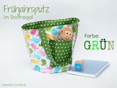 Gartentasche grün Punkte