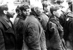 Minsk, Belorussia, Jewish forced labor workers in the ghetto, January 1943. No record that any survived. They would have been transported to death camp and either immediate gassed or slave labor and slow death