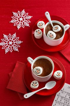 Use a toothpick dipped into melted dark chocolate and melted orange candy melts to dab on eyes, a mouth and of course, a carrot nose. Serve in your favorite hot chocolate and drink quickly before they melt! Tools you'll need: $5, Royal Bamboo Knot Cocktail Picks, amazon.com