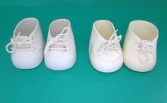 Vintage Cabbage Patch Doll Shoes Two Pairs White Lace Up High Top Style #Unbranded #ClothingAccessories