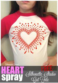 Free (Faux Rhinestone) Heart Spray Silhouette Studio Cut File