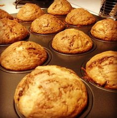 Nutella muffins (with peanut butter chips!)