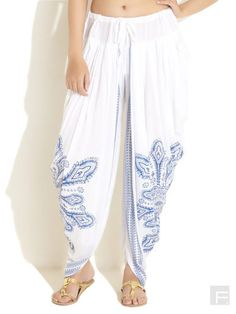 Harem / Dhoti Pants Kundalini Yoga  White от LittleLilbienen, $30.00