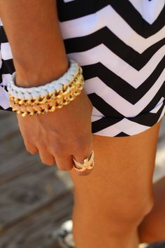 The Dressy Chick looking GREAT wearing JAMI white & peach Estelle bracelets!!