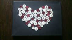Walentynkowe serduszko z guzików