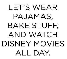 Yes! #comfort #pyjamas #bake #disney #fun by kiaahjaade...
