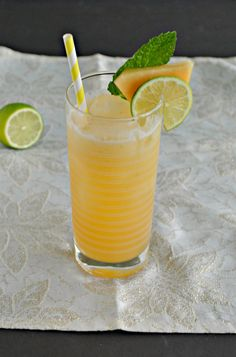 Cool off with a refreshing Cantaloupe Lime Agua Fresca