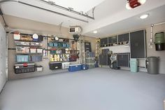 This is A Little about Garage Conversion Ideas: Mesmerizing Garage Ideas With Hanged Garage Storage Ideas And Ikea Ceiling Lights Home Gym Flooring ~ sagatic.com Garage Inspiration