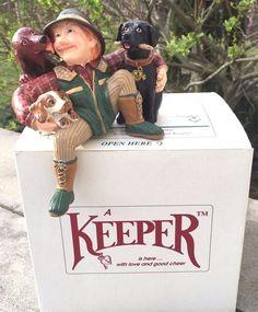 Vintage Shenandoah Designs The Keeper of The Dogs Shelf Sitter Figurine