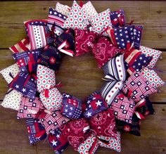 Handmade Country 4th of July Wreath Decor
