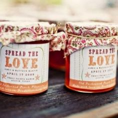 LOVE THIS for favors... would be so adorable for a fall wedding and use apple butter! mmm! Sweet love.