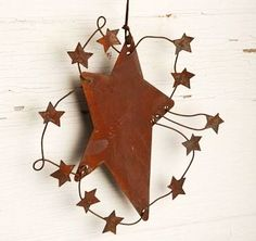 rusty tin star
