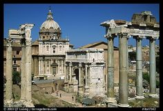 West end of the Roman Forum. Rome, Lazio, Italy,Part of gallery of black and white pictures of Europe by professional photographer QT Luong, available as prints or for licensing. Rome Streets, Rome Photography, Italy Pictures, Roman Forum, West End, Ancient Architecture, Black And White Pictures, Historical Sites, Picture Photo