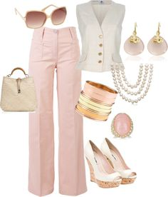 Pink Pant, created by tinmaine on Polyvore