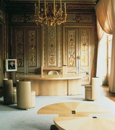 Andree Putman's design for the Presidential Office at the Elysee Palace