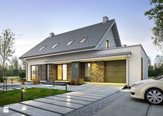 ATRAKCYJNY 3A - nowoczesny dom z poddaszem użytkowym - Domy, styl nowoczesny - zdjęcie od DOMY Z WIZJĄ - nowoczesne projekty domów