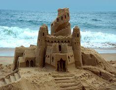 Sand Castles are a fun hobby on the Oregon Coast.  www.wildland-properties.com
