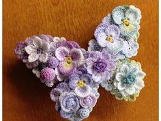 Crochet butterfly by Lunarheavenly in Japan