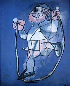 Pablo Picasso - Petite fille sautant à la corde - 1954