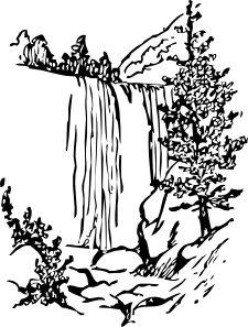 Water Fall clip art - vector clip art online, royalty free & public domain