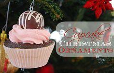 easi cupcak, cupcake ornaments diy, cupcak christma, diy ornament, christmas ornaments, christma ornament