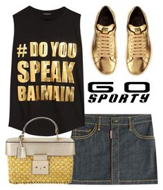 """Go Sporty"" by mood-chic ❤ liked on Polyvore featuring Dsquared2, Balmain, Michael Kors, Tom Ford and sportystyle"