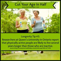 Longevity Tip #3: Physical activity helps people live longer <3