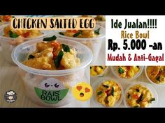 Rice Box, Chicken Rice Bowls, Salted Egg, Cafe Food, Indonesian Food, Rice Recipes, Potato Salad, Herbalism, Food And Drink