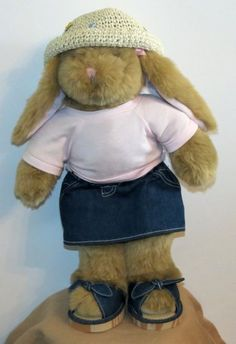 Build a Bear Bunny Big Ears Retired Spring Outfit