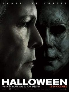 Halloween is a movie starring Jamie Lee Curtis, Judy Greer, and Andi Matichak. Laurie Strode confronts her long-time foe Michael Myers, the masked figure who has haunted her since she narrowly escaped his killing spree on Halloween. Halloween 2018, Halloween Film, Halloween Poster, Halloween Night, Link Halloween, Halloween House, Happy Halloween, Michael Myers