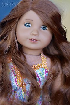 GORGEOUS-Custom-American-Girl-Doll-KANANI-with-SAIGE-wig-MARIE-GRACE-eyes-OOAK