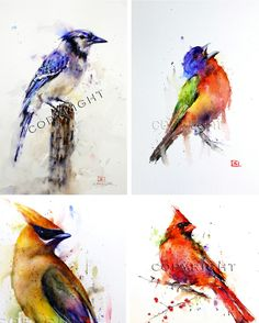 Dean Crouser is a famous watercolor artist. His watercolor painting of birds are natural and vibrant.He focus on different subjects like birds and animals. Famous Watercolor Artists, Watercolor Paintings, Watercolours, Watercolor Bird, Watercolor Animals, Painted Bunting, Bird Drawings, Bird Art, Painting Inspiration
