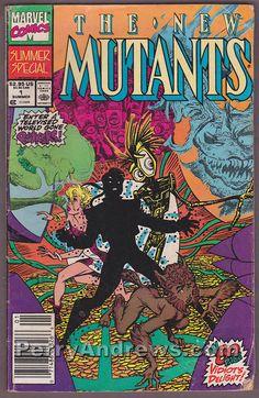THE NEW MUTANTS SUMMER SPECIAL #1 Marvel Comics 1990