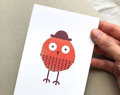 Delightful little birds designed to make you von TheKautziShop Little Birds, Little Things, Bird Design, Postcards, Make It Yourself, How To Make, Craft Gifts, Small Birds, Greeting Card