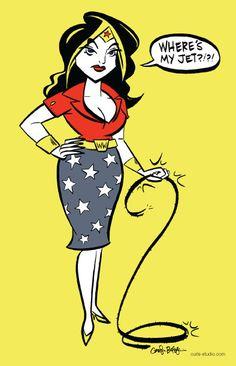 Wonder Woman Print by cartooncarolyn on Etsy, $5.00