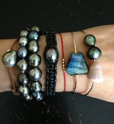 pearl. love. and @Sophie LB Grace Maui #pearlsandleather #sophiegracemaui #bangles