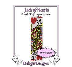 Bead Pattern Peyote(Bracelet Cuff)-Jack of Hearts