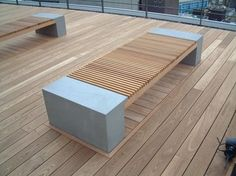 ThermoWood Ash Hardwood Decking is an essential material in woodcraft due to its amazing durability. Fire Rating – Class B Hardwood Decking, Timber Deck, Urban Furniture, Outdoor Furniture, Outdoor Decor, Concrete Bench, Residential Architecture, Cladding, Garden Design
