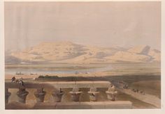 Libyan chain of mountains, from the Temple of Luxor. David Roberts