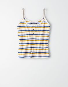 Shop Women's Layering Tank Tops from American Eagle online. Our Layering Tank Tops are available in tons of styles, colors and fabrics so you have the right one for you. Cute Tank Tops, Black Tank Tops, Cute Shirts, Crop Tops, Striped Tank Top, Women's Tops, Summer Outfits, Cute Outfits, Summer Clothes