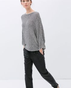 Image 3 of TWO-TONE BATWING TOP from Zara