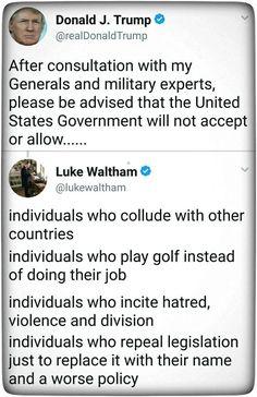 Perfect smack down of Trump's discriminatory trans military ban.
