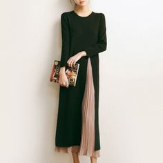 Elegant Outfit, High Neck Dress, Dresses For Work, One Piece, Knitting, Chic, Outfits, Clothes, Instagram
