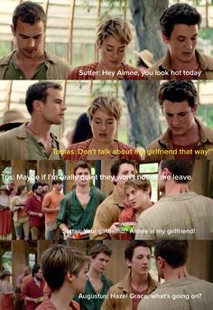 Fandom humor. Fault in Our Stars , Divergent , and The Spetular ONe.....HAHAHAHAHAHAH I'm laughing way harder than I should be
