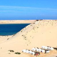 Desert camp in Western Sahara Morocco